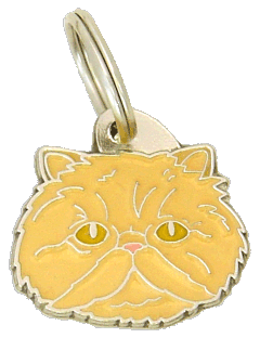 Persian cat cream - pet ID tag, dog ID tags, pet tags, personalized pet tags MjavHov - engraved pet tags online
